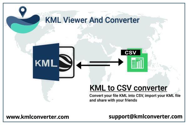 KML to CSV converter